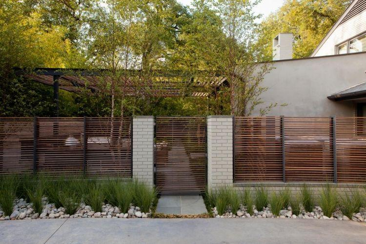 Gartenzaun Holz Modern