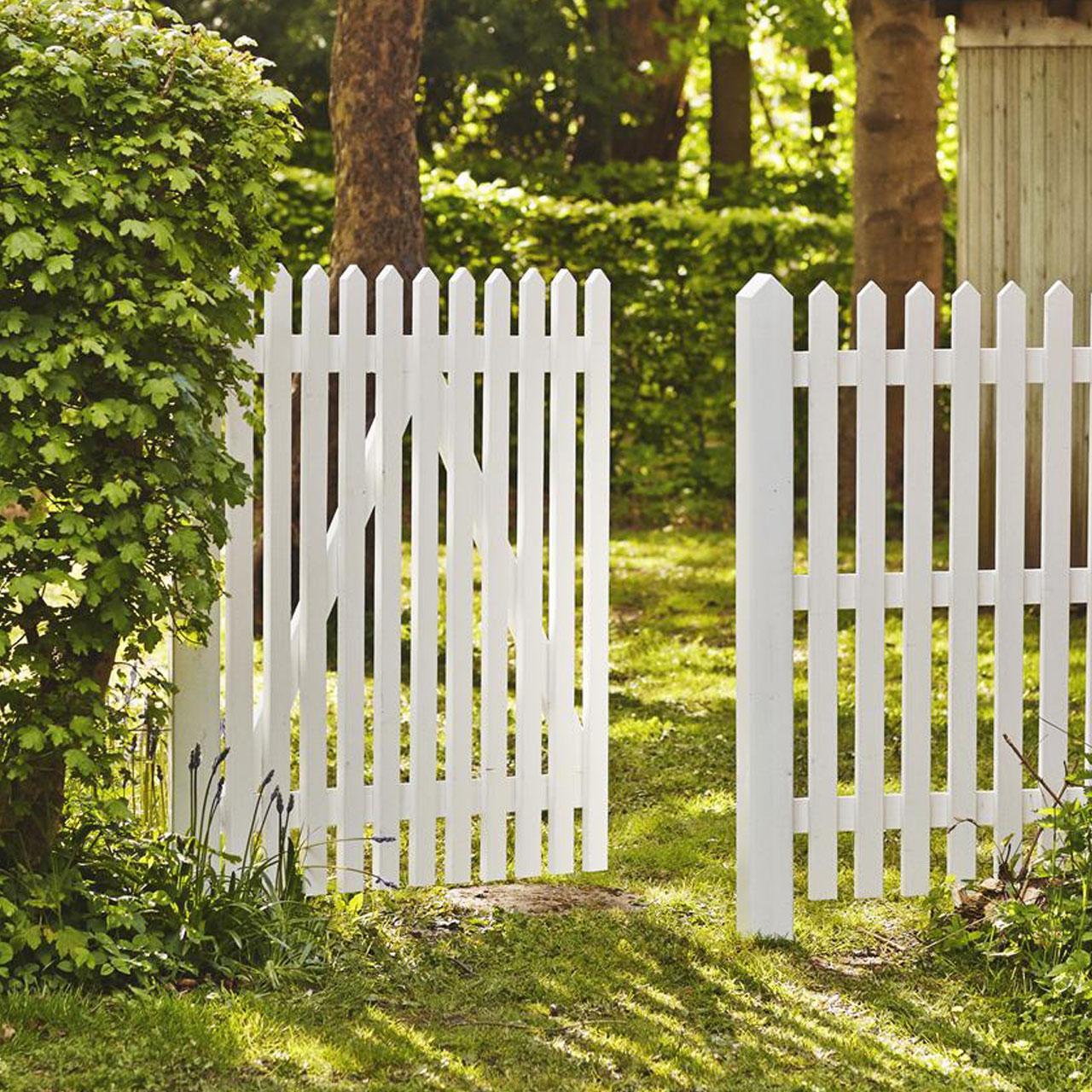 Gartenzaun Holz Weiß