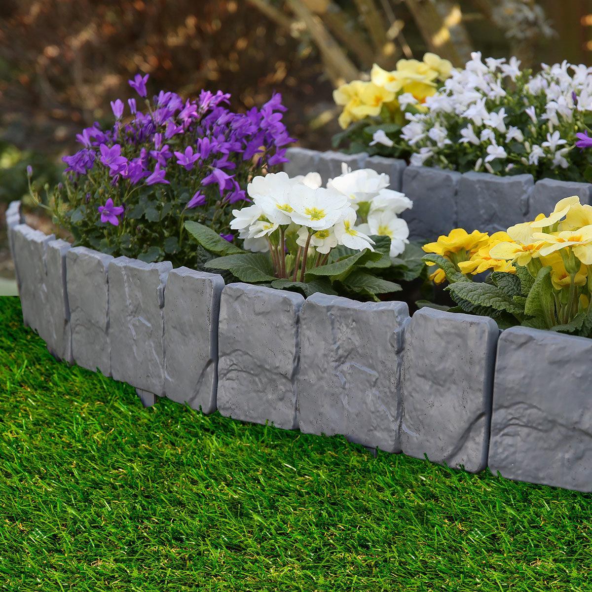 Gartenzaun Kunststoff Steinoptik