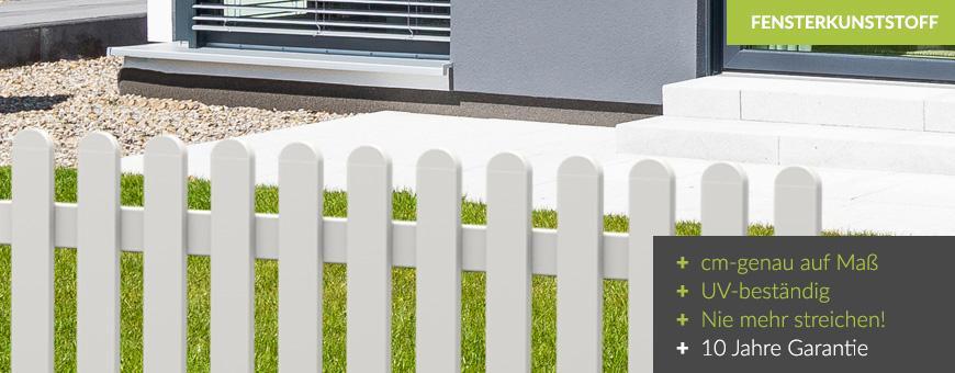 Gartenzaun Kunststoff Weiß