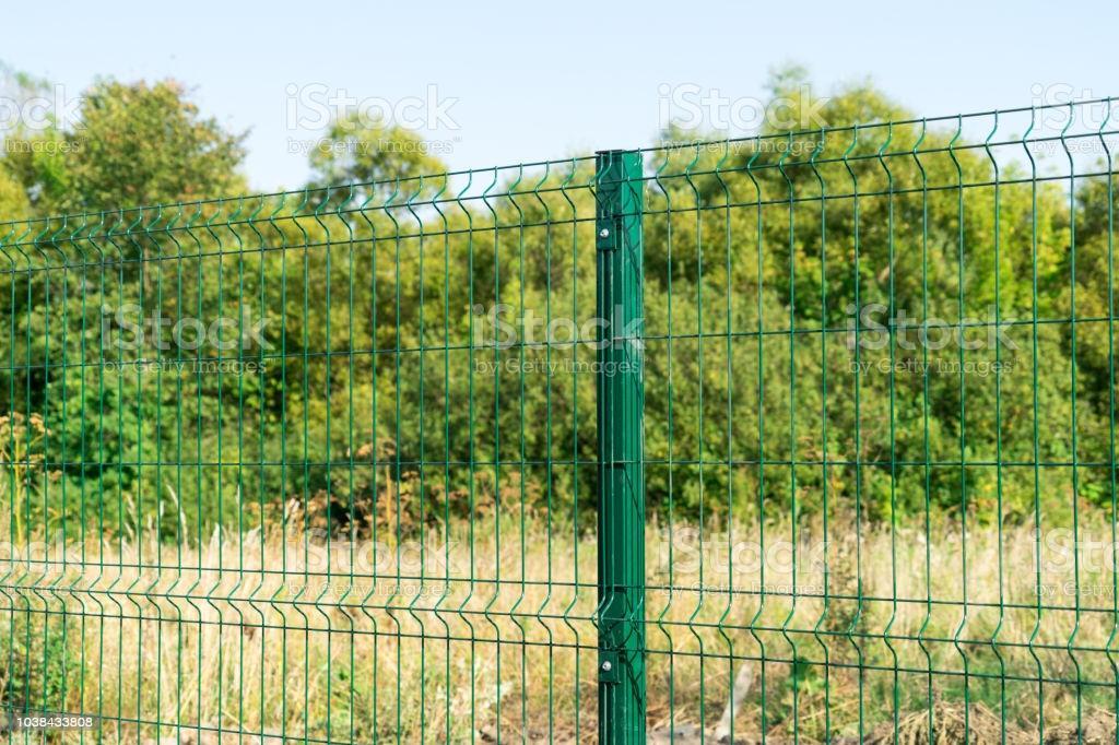 Gartenzaun Metall Grün
