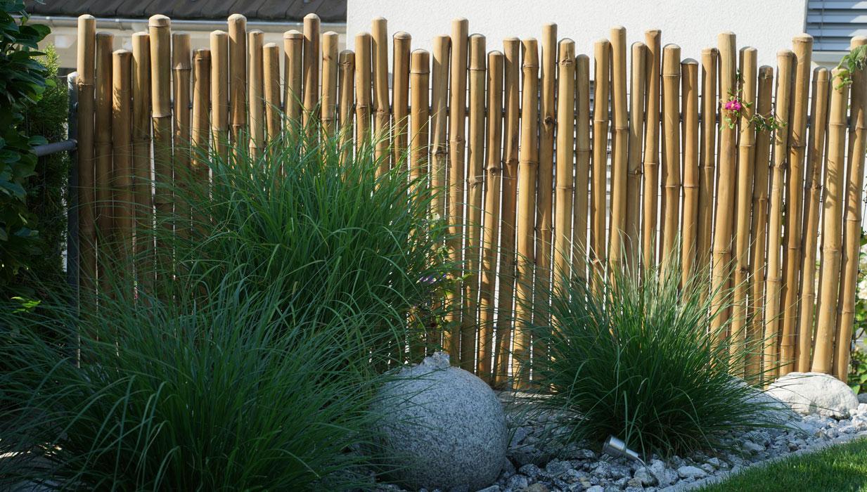 Gartenzaun Sichtschutz Bambus