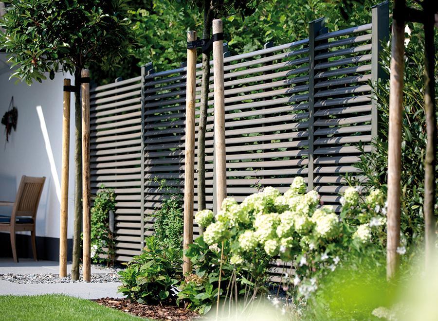 Gartenzaun Sichtschutz Kunststoff Steinoptik