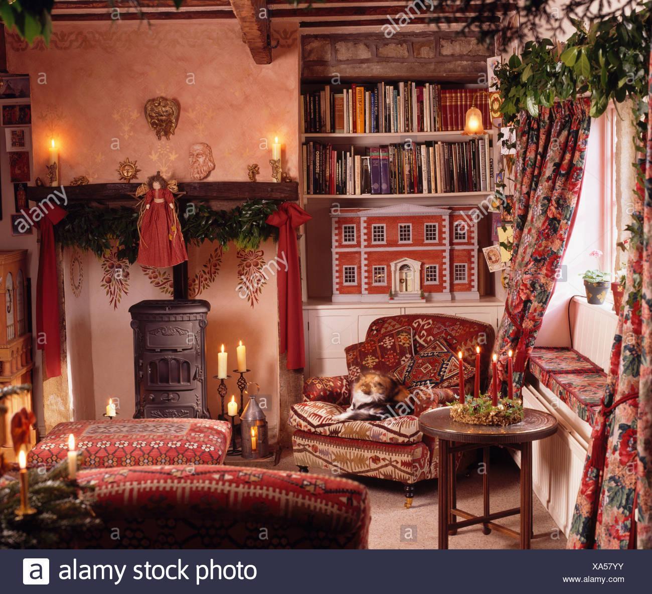 Gemütlich Weihnachten Wohnzimmer
