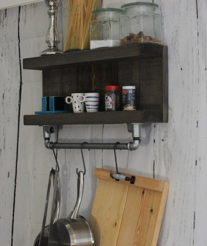 Gewürzregal Holz Vintage