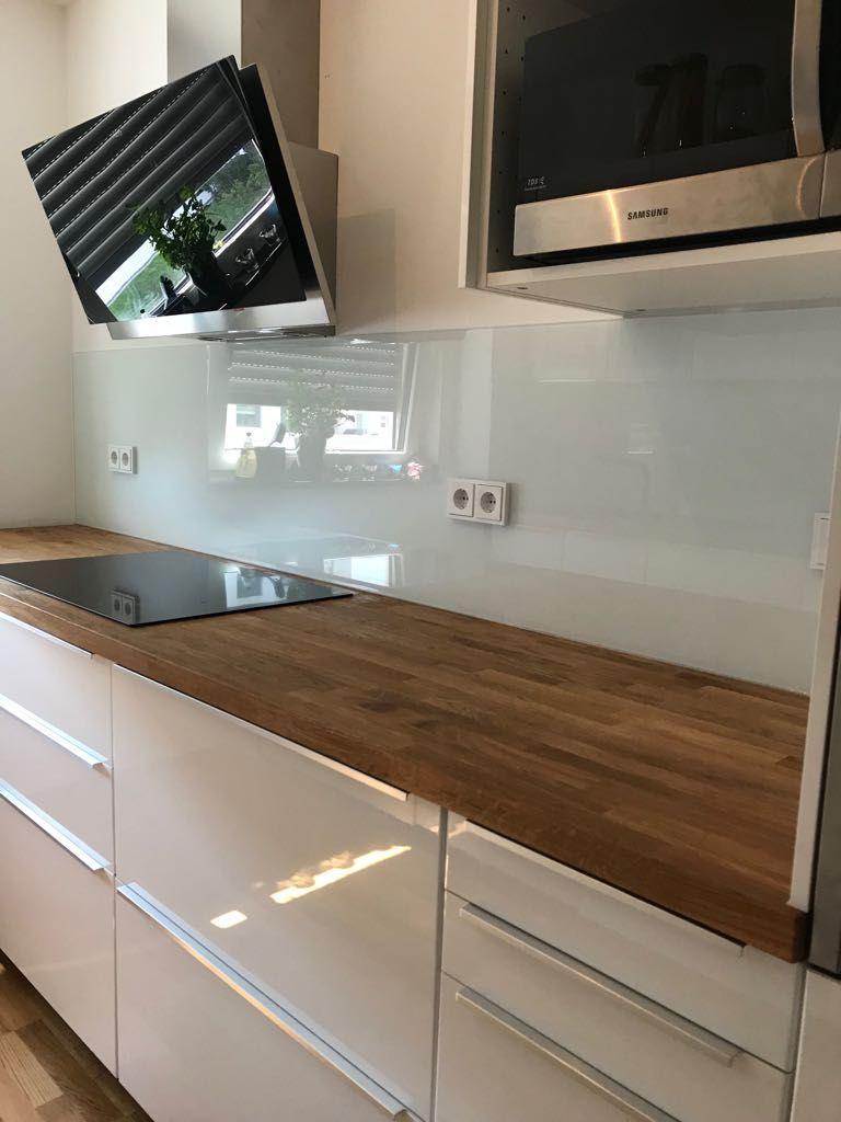Glasplatte Küche Spritzschutz