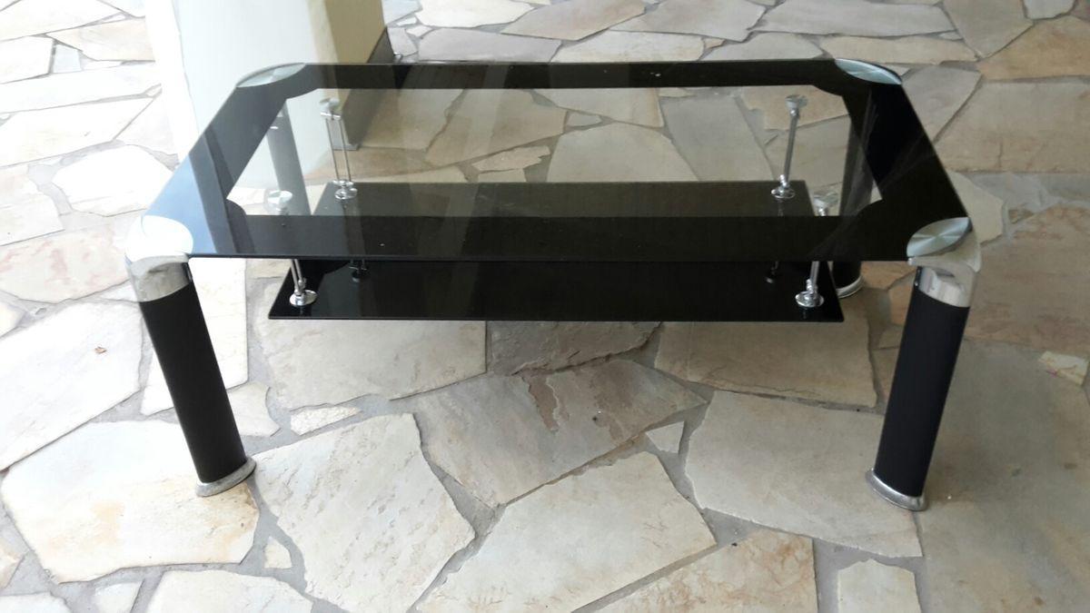 Glastisch Couchtisch Schwarz