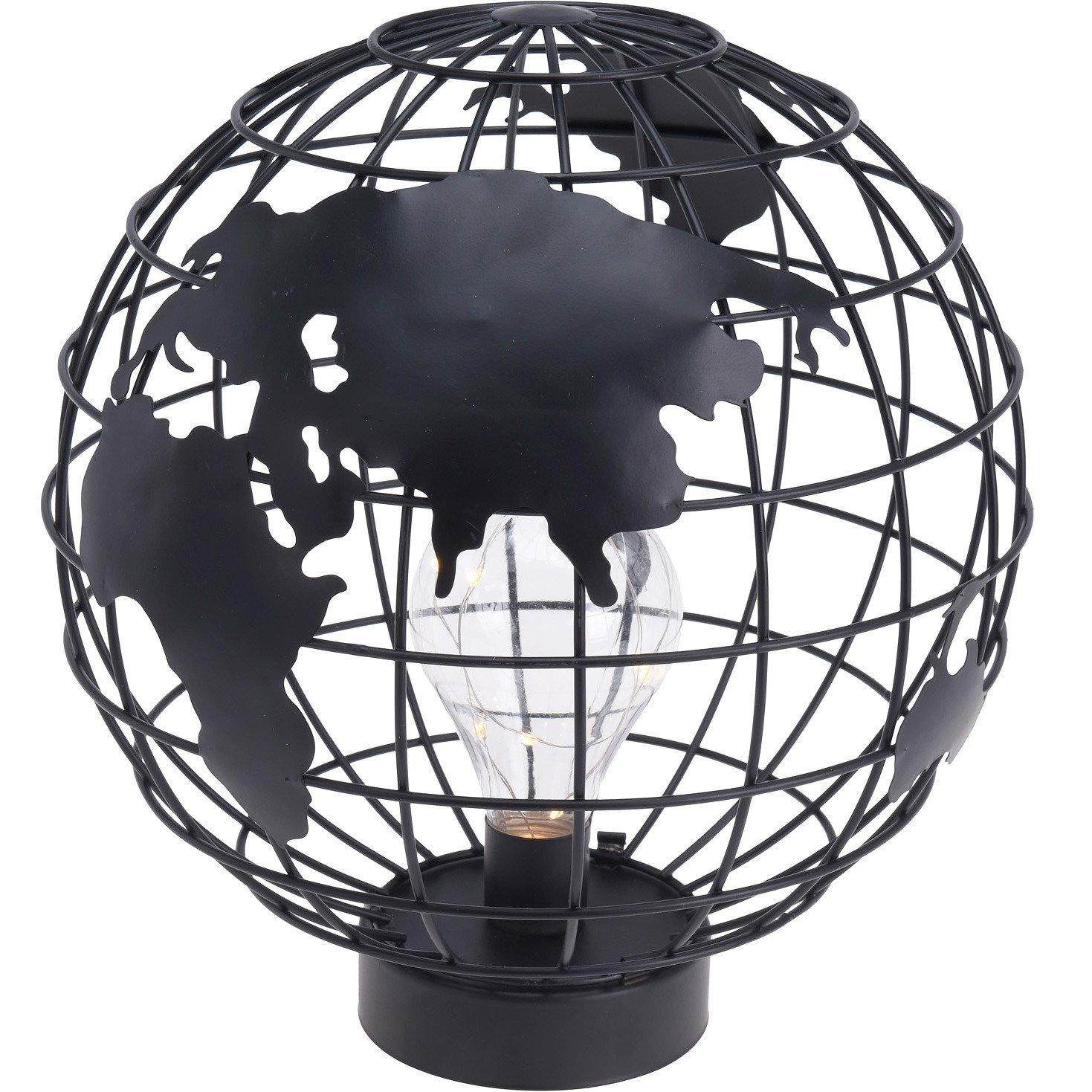 Globus Lampe Schwarz