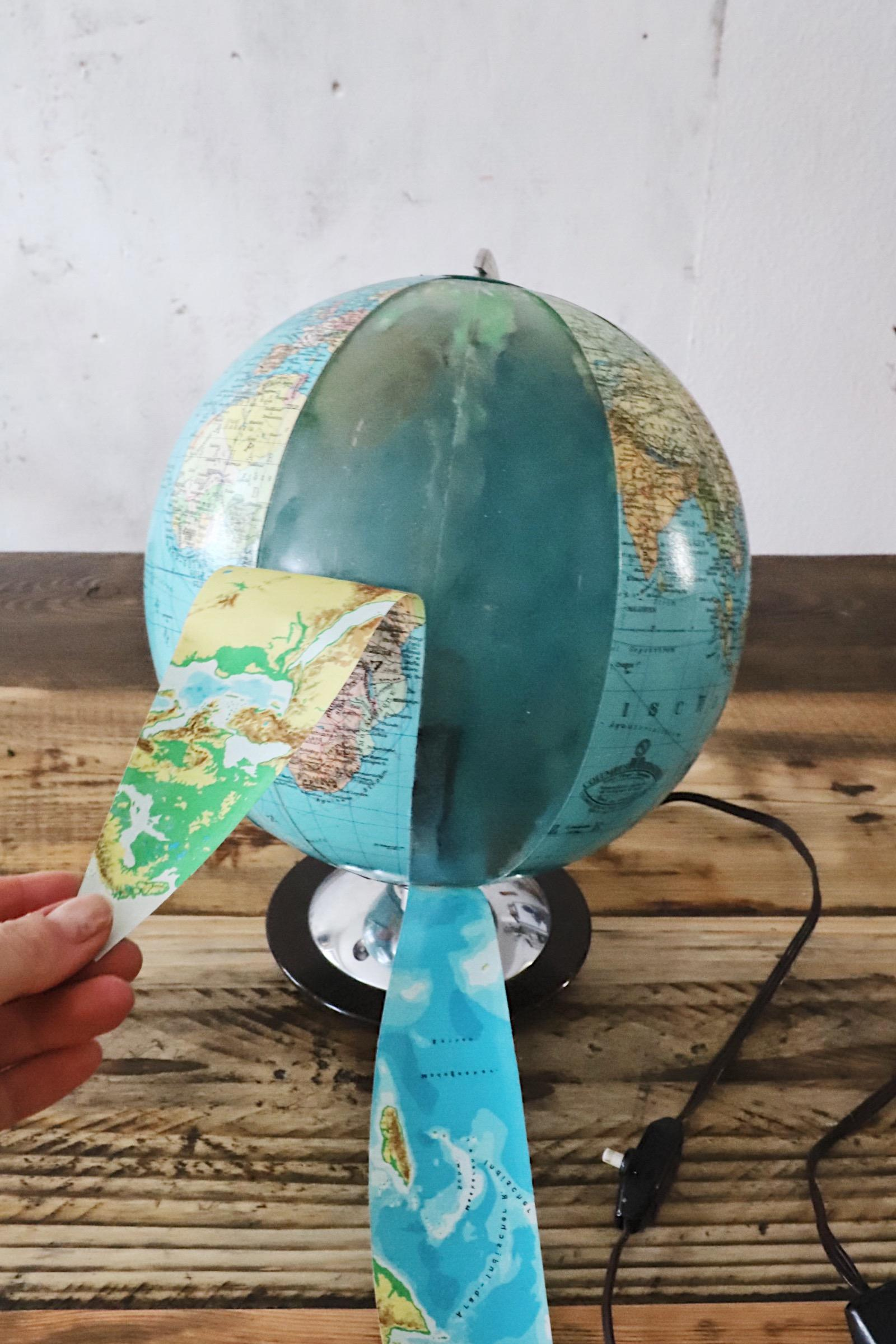 Globus Lampe Vintage
