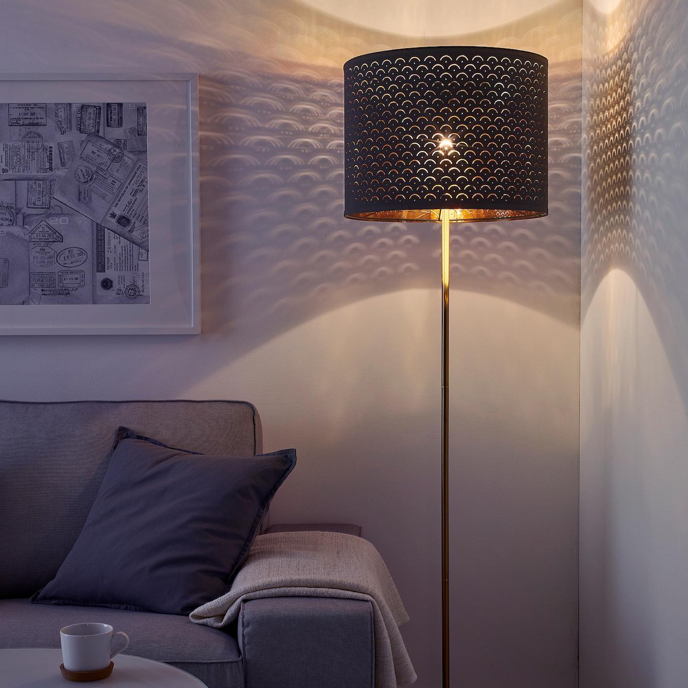 Goldene Stehlampe Ikea