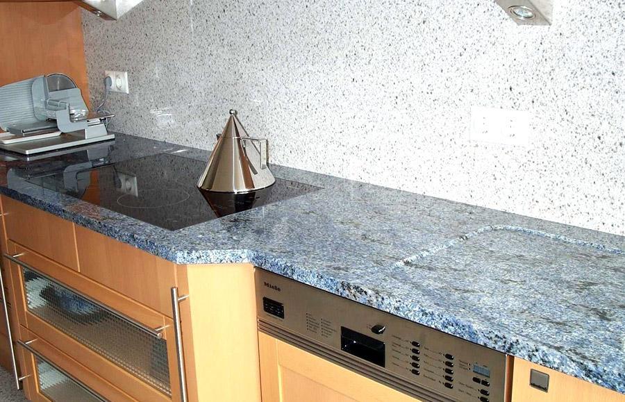 Granit Arbeitsplatte Küche Braun