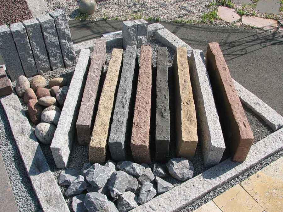 Granit Randsteine Garten