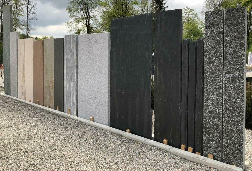 Granitplatten Garten Sichtschutz