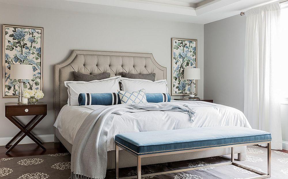 Grau Blaues Schlafzimmer