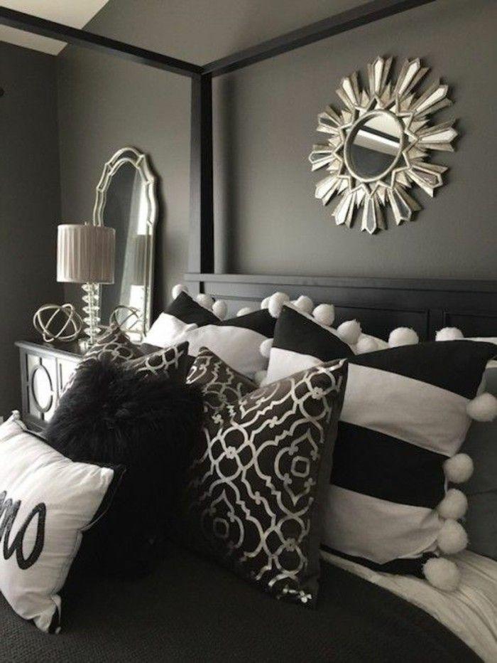 Grau Schwarzes Schlafzimmer
