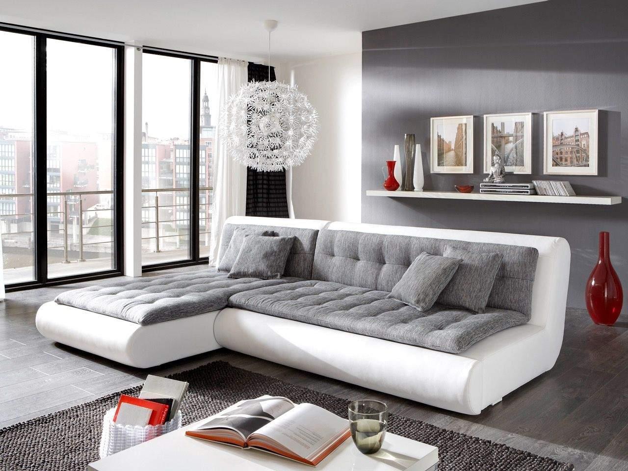 Grau Weiße Wohnzimmermöbel
