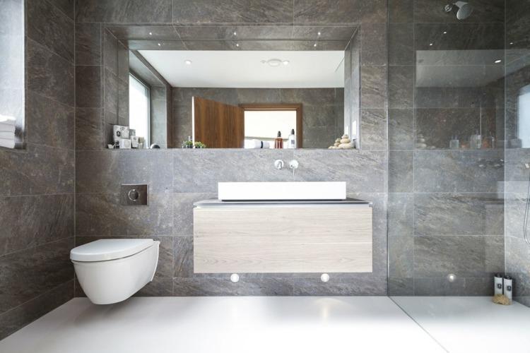 Grau Weißes Badezimmer