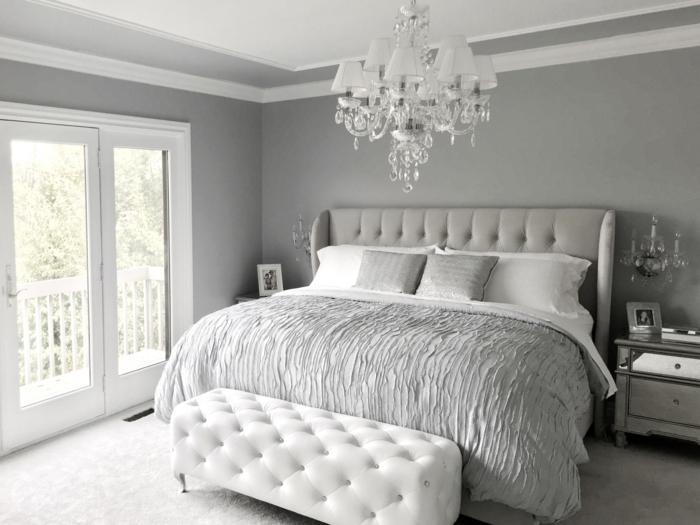 Grau Weißes Schlafzimmer