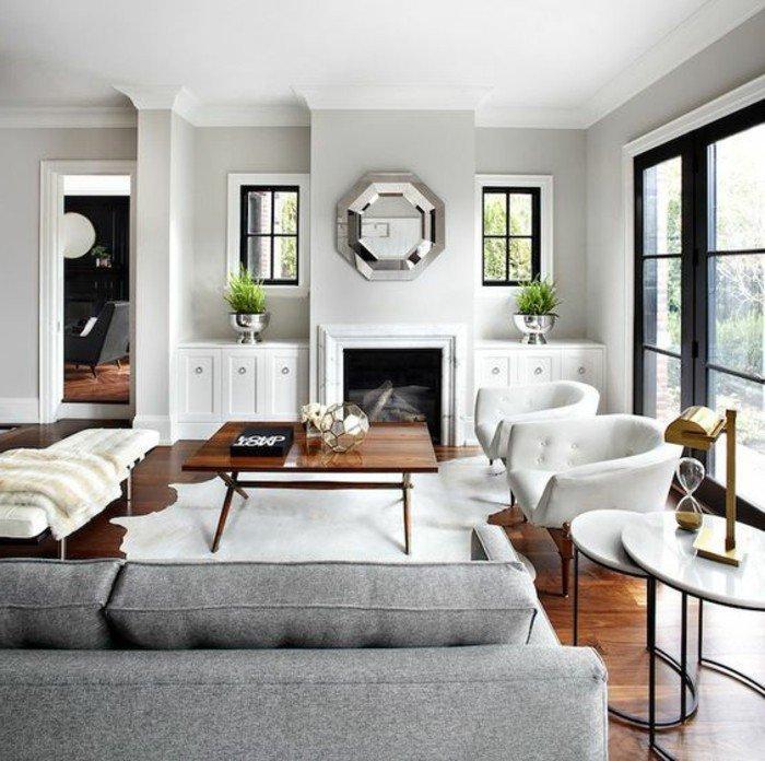 Grau Wohnzimmer Modern Holz