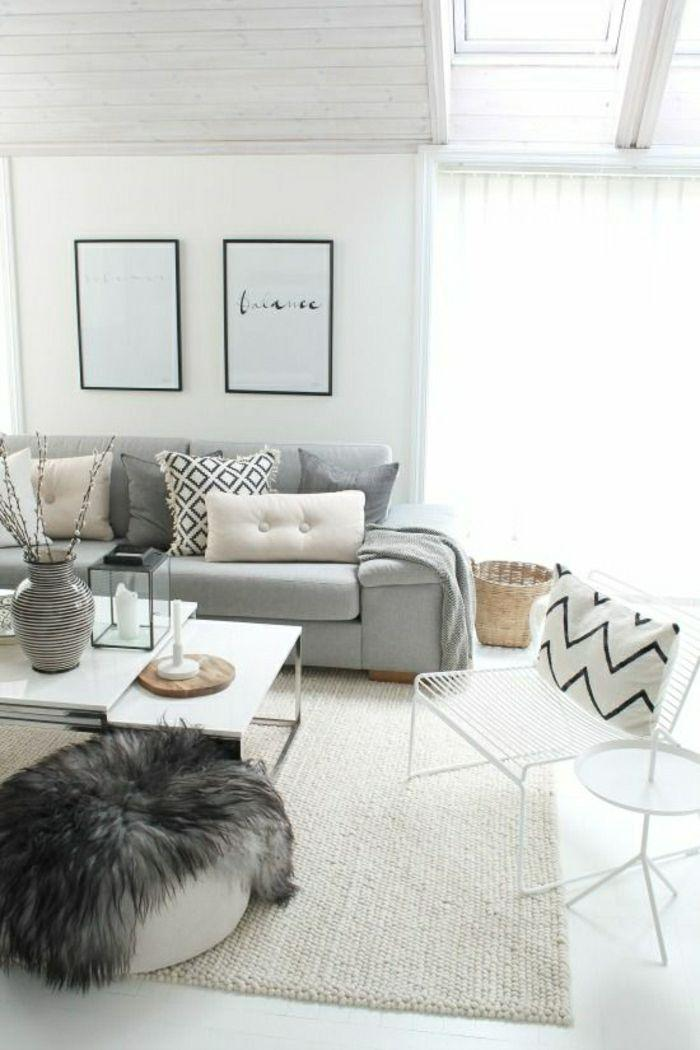 Graue Couch Teppich