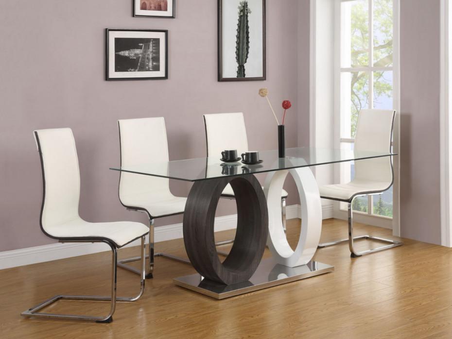 Graue Esstisch Stühle