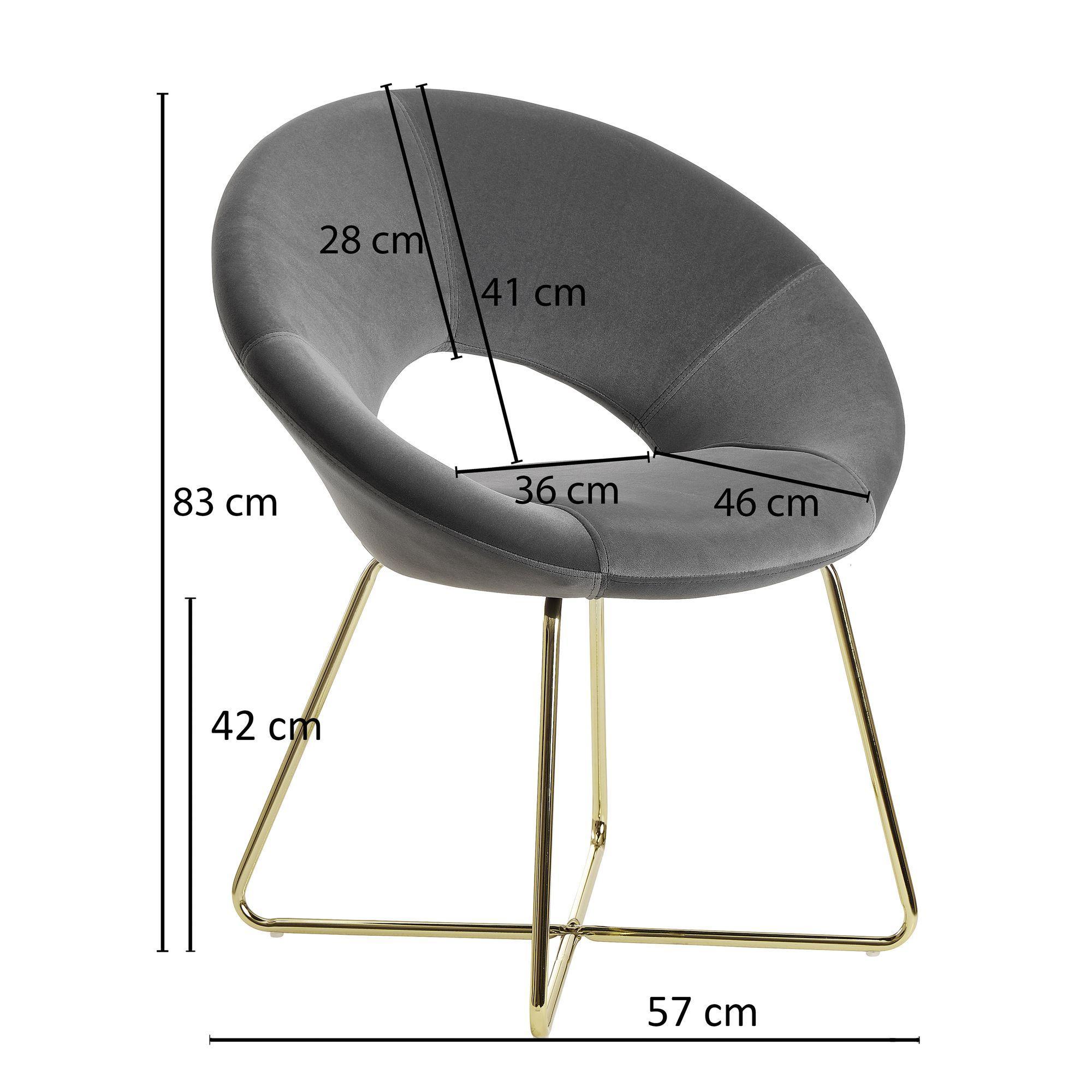 Graue Stühle Mit Goldenen Beinen