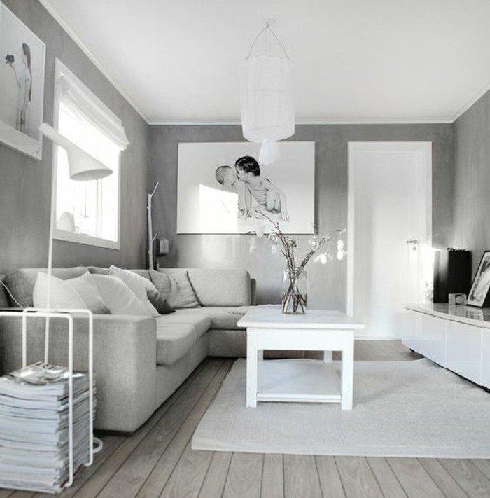 Graues Zimmer Weiße Möbel