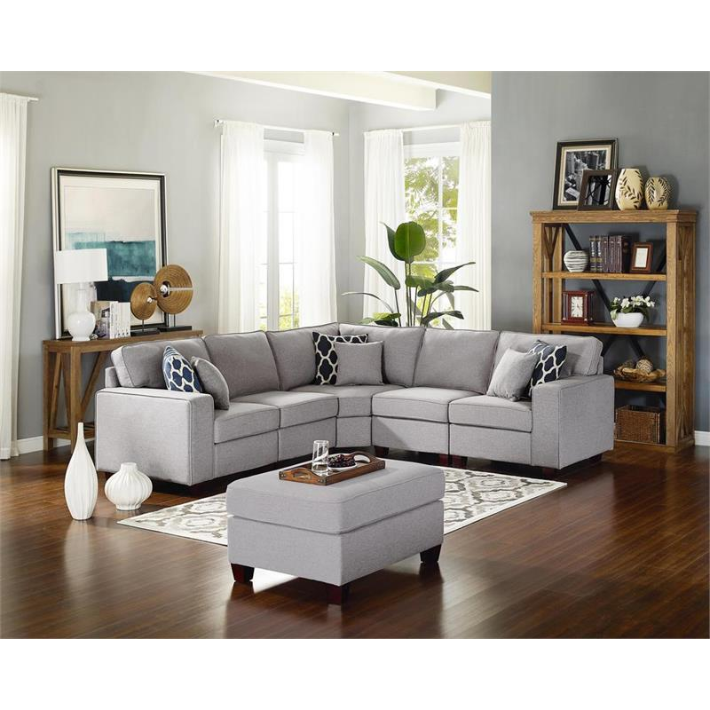 Gray Couch Ottoman