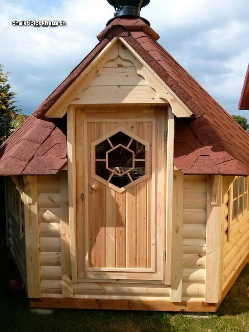 Grillhütte Grillpavillon Holz