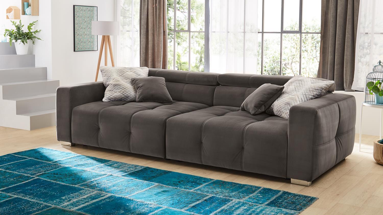 Großes Sofa Grau