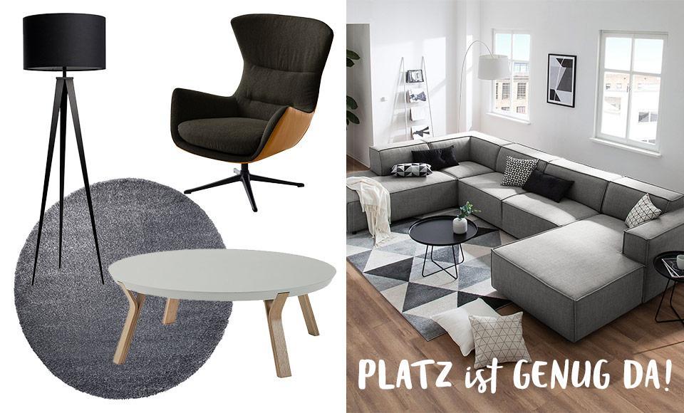 Großes Wohnzimmer Ideen