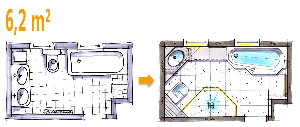 Grundriss Badezimmer 6 Qm