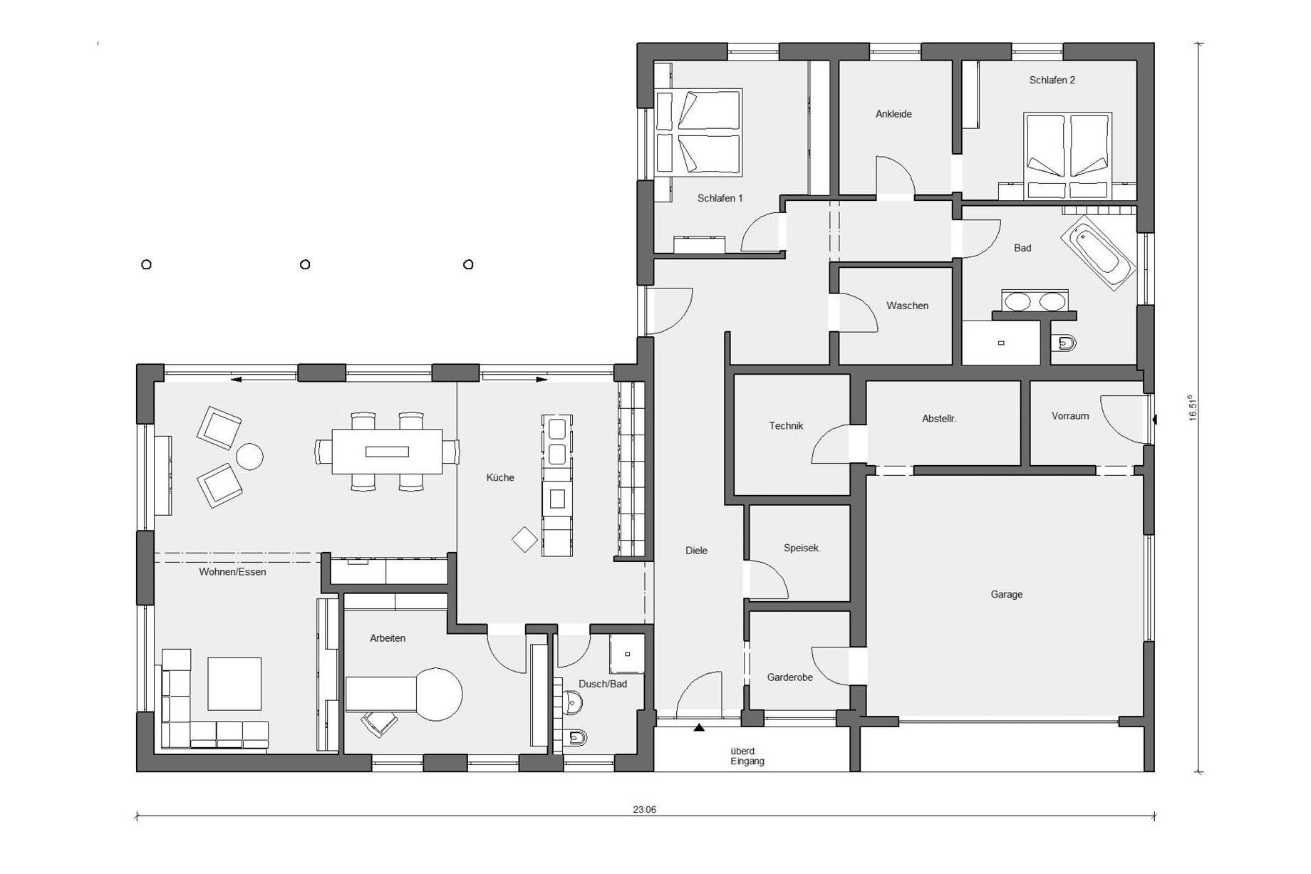Grundriss Wohnzimmer L Form