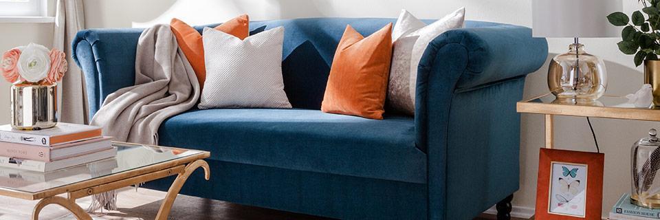 Grüne Couch Deko