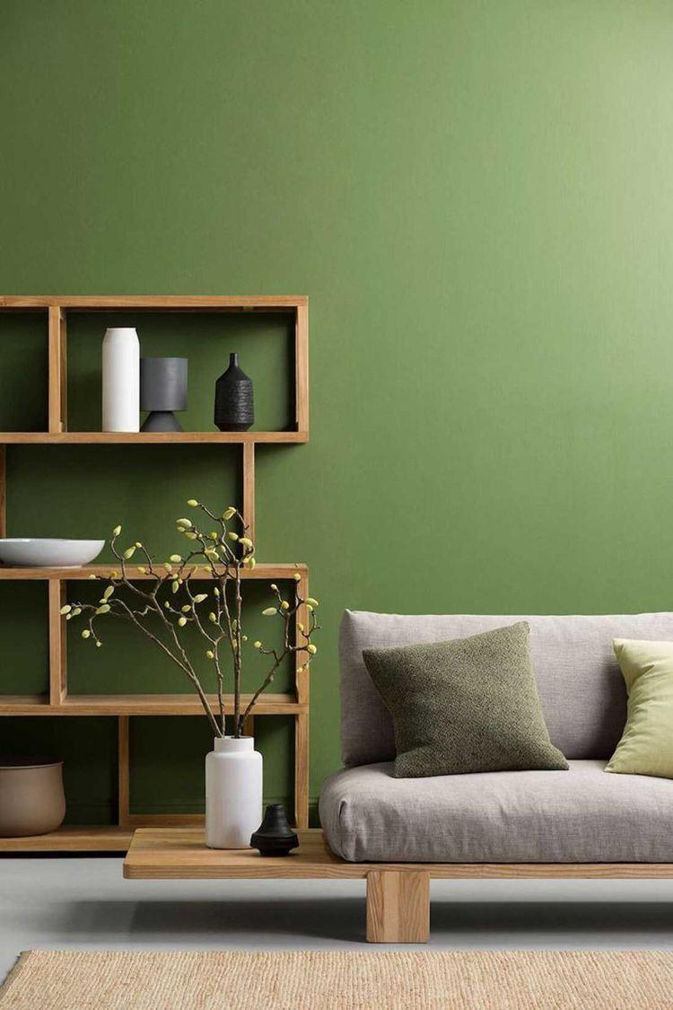 Grüne Wandfarbe Wohnzimmer