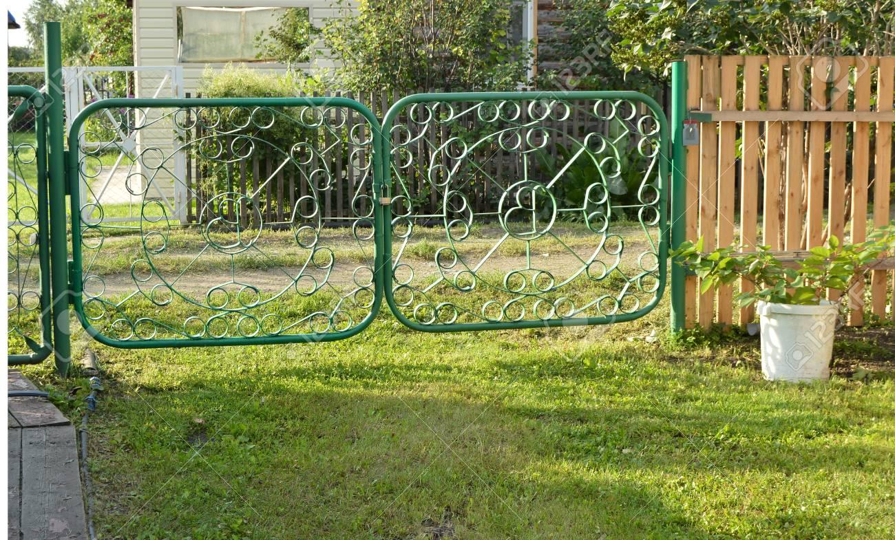 Grüner Zaun Metall