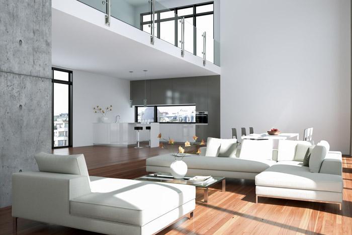 Halbe Wand Raumteiler Wohnzimmer Essbereich