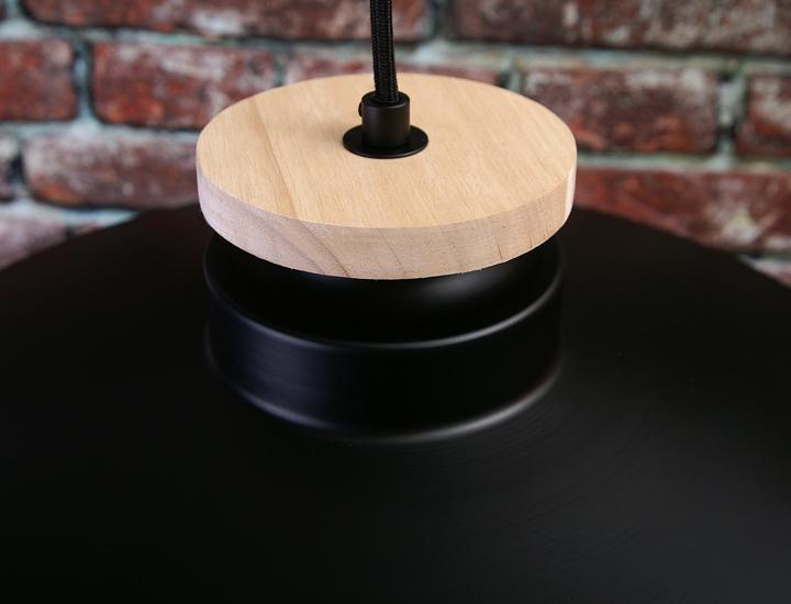 Hängeleuchte Schwarz Holz