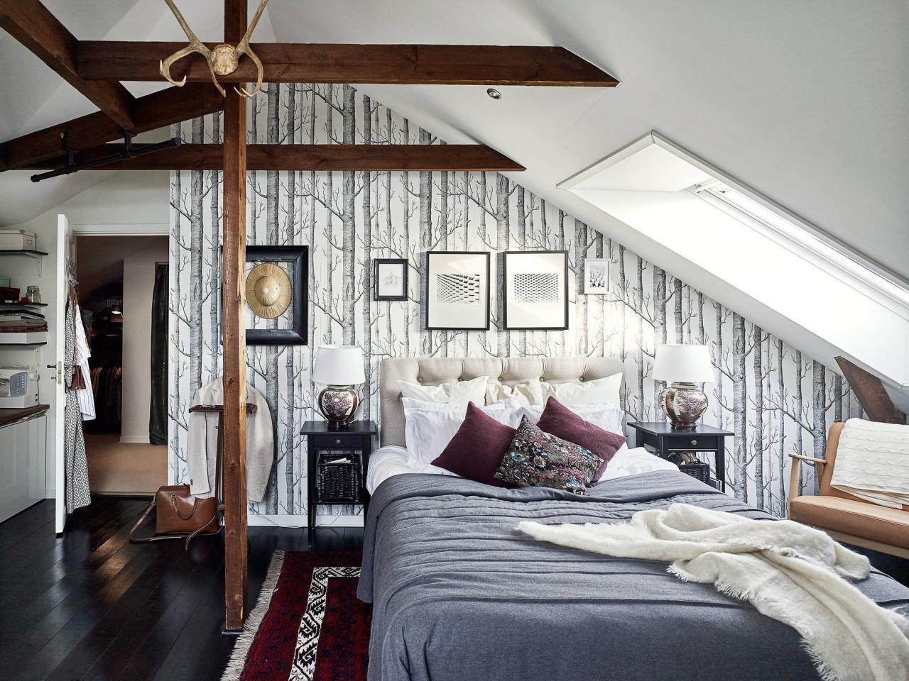 Haus Bett Unter Schräge