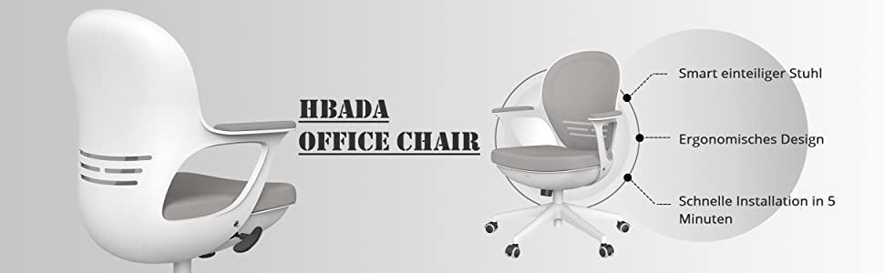 Hbada Bürostuhl Ergonomischer Schreibtischstuhl