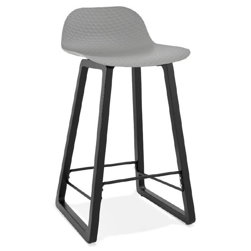 Hellgraue Stühle Mit Schwarzen Beinen