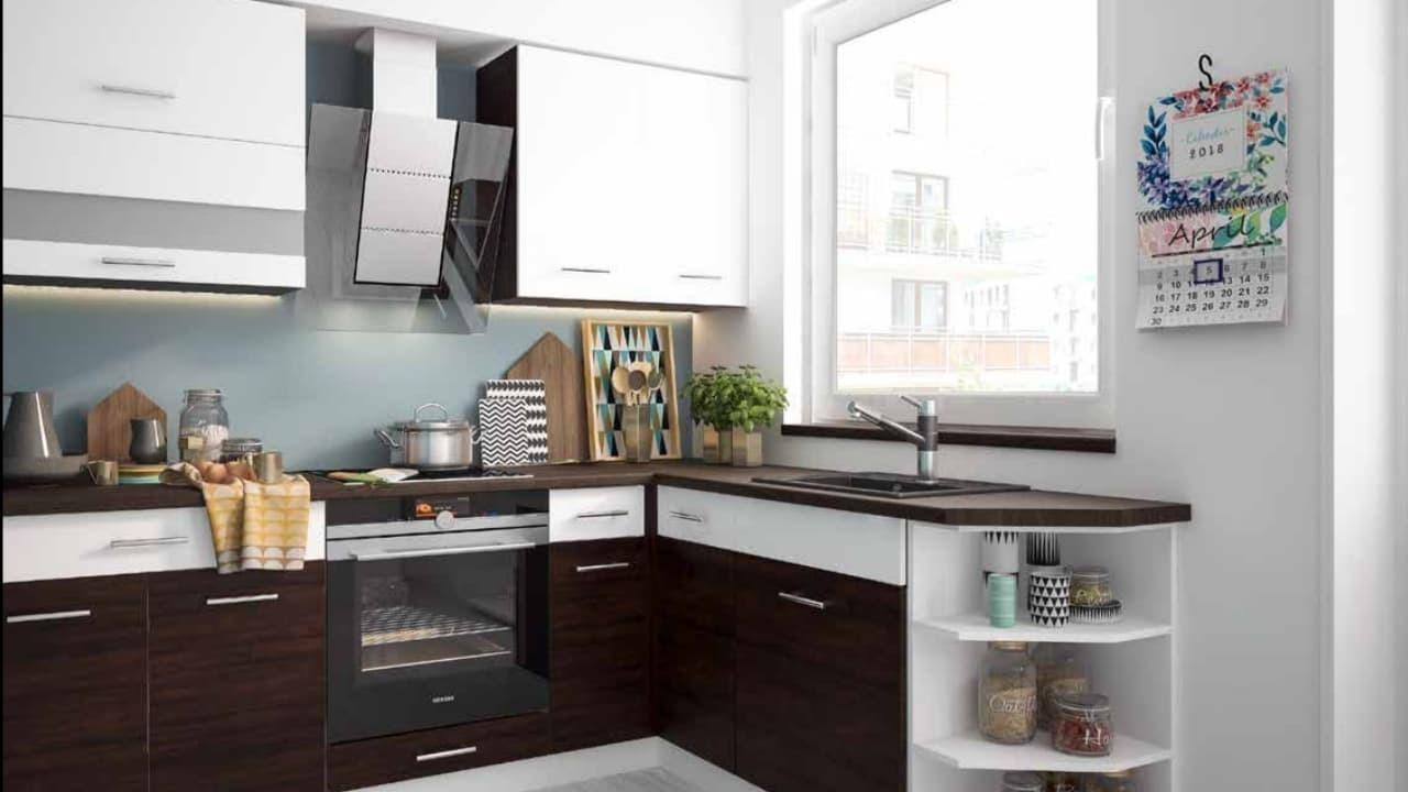 Hochglanz Küche L Form