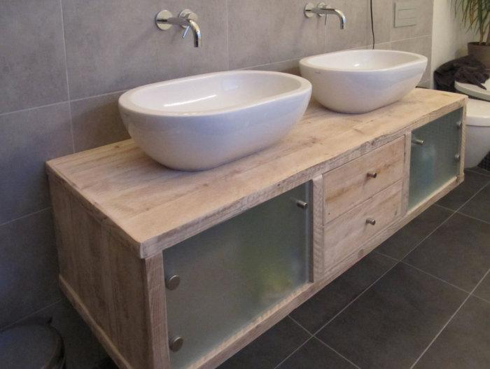 Holz Badmöbel Mit Aufsatzwaschbecken