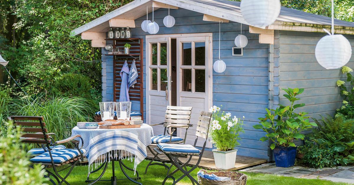 Holz Gartenhaus Grün