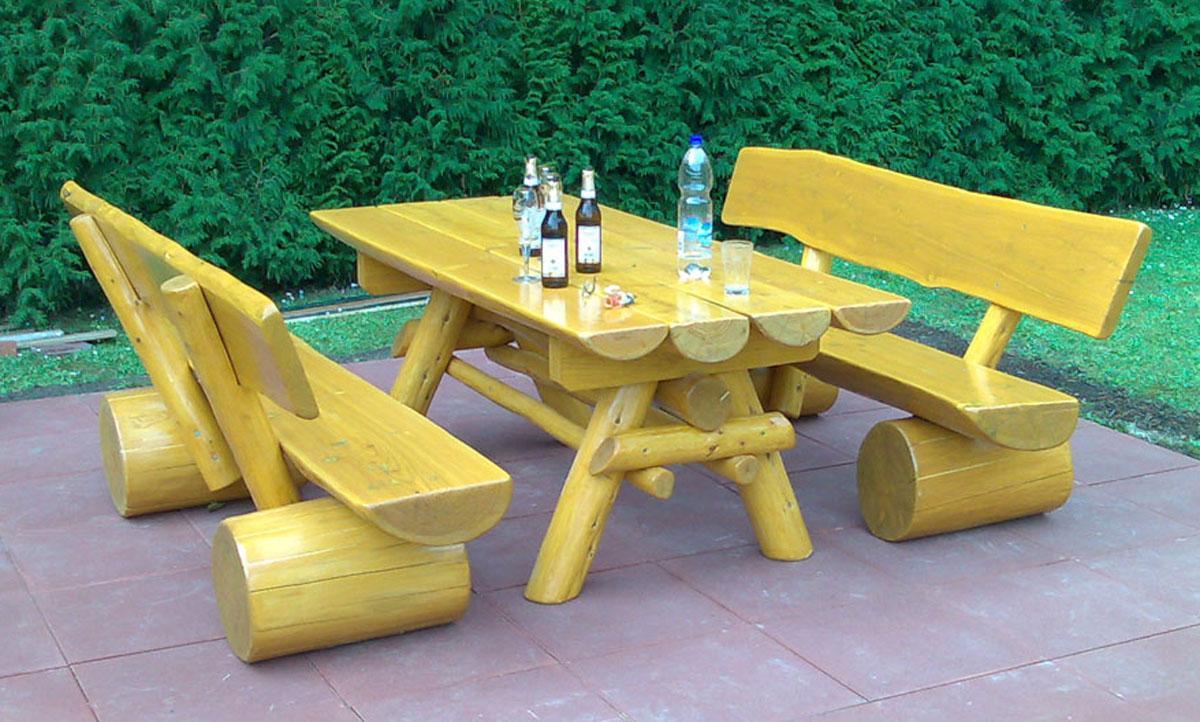 Holz Gartenmöbel Rustikal