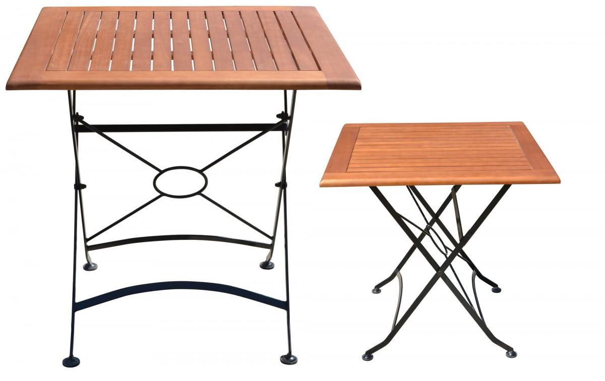 Holz Gartentisch Quadratisch