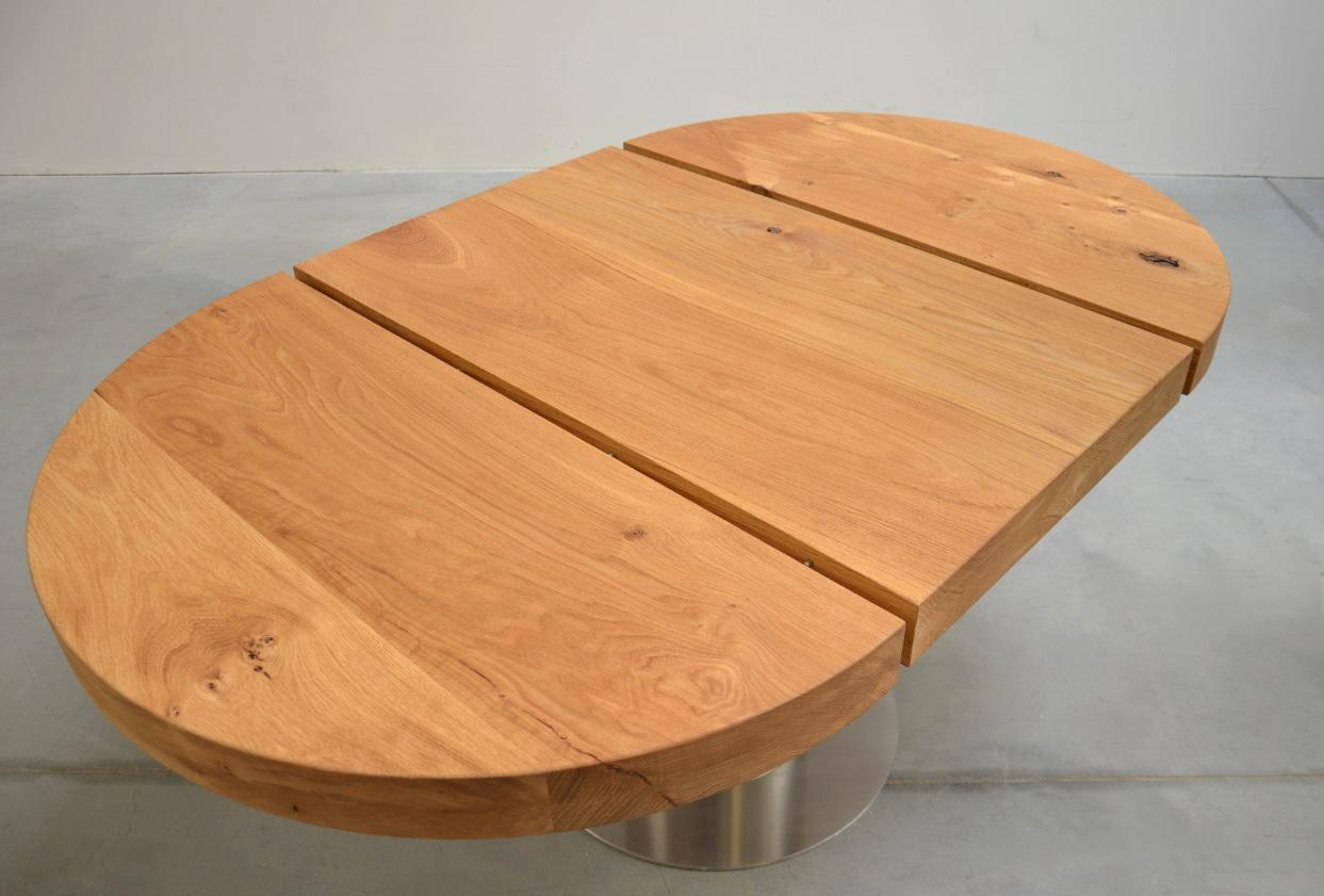 Holz Gartentisch Rund Ausziehbar