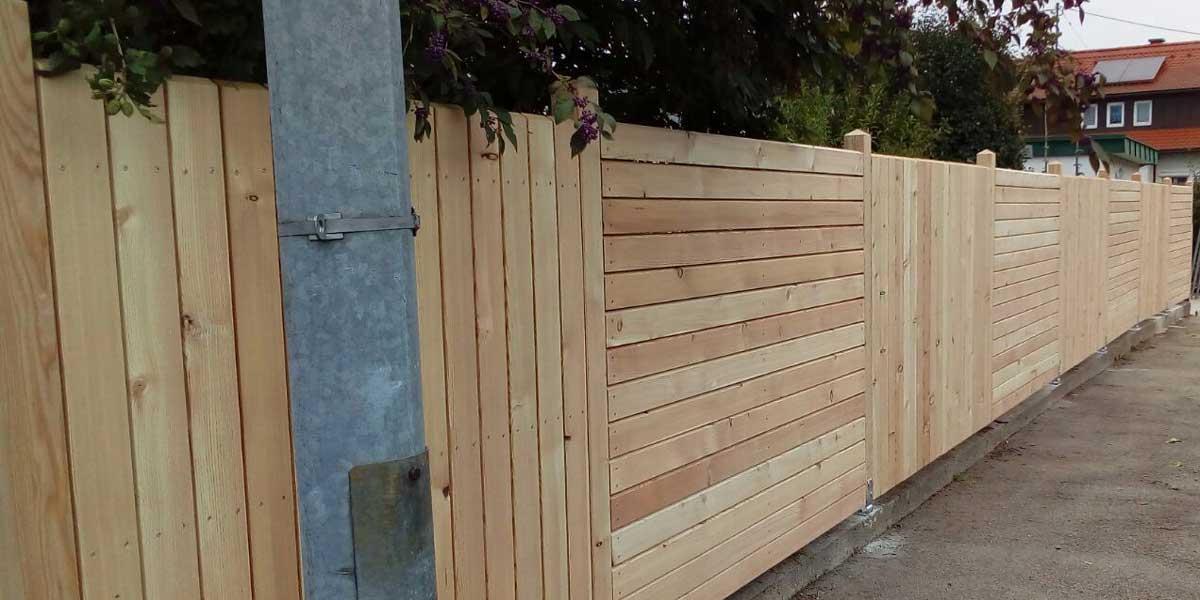 Holz Gartenzaun Verschönern