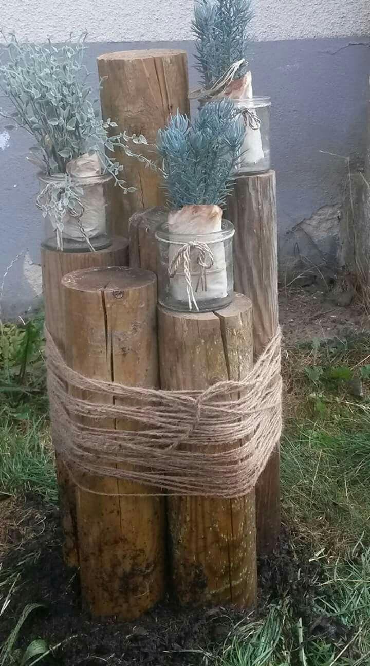 Holz Im Garten Deko