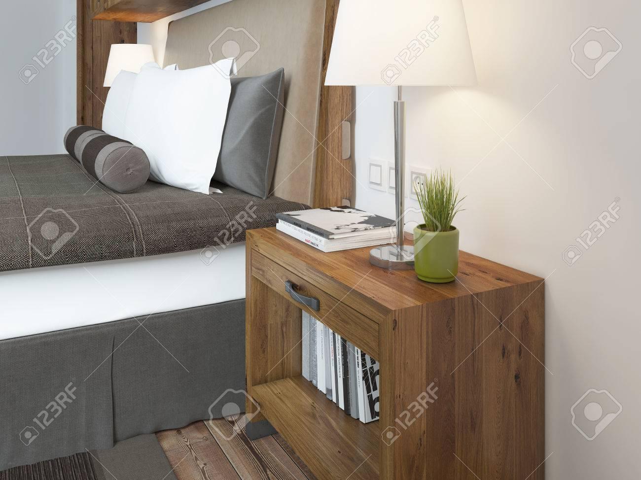 Holz Lampe Nachttisch